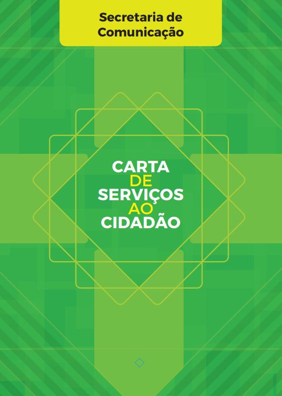 Capa da carta de serviços da Secretaria de comunicação ao cidadão